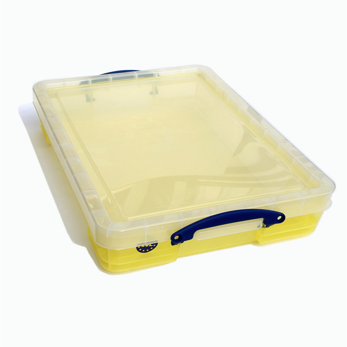 Really Useful Box 20 Liter inkl Deckel transparent gelb