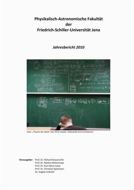 physikalisch astronomische fakultat der friedrich schiller