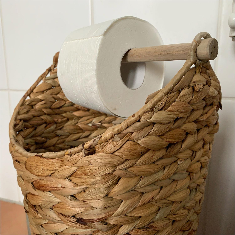 Chic Antique Toiletten Papierhalter Deko Korb Papier Rollenhalter WC Braun 4