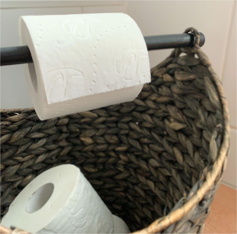 Chic Antique Toiletten Papierhalter Deko Korb Papier Rollenhalter WC Grau 4