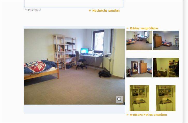 großes komplett ausgestattetes ruhiges Zimmer im Wohnheim 1 Zimmer Wohnung in Mannheim Schwetzingerstadt Nr