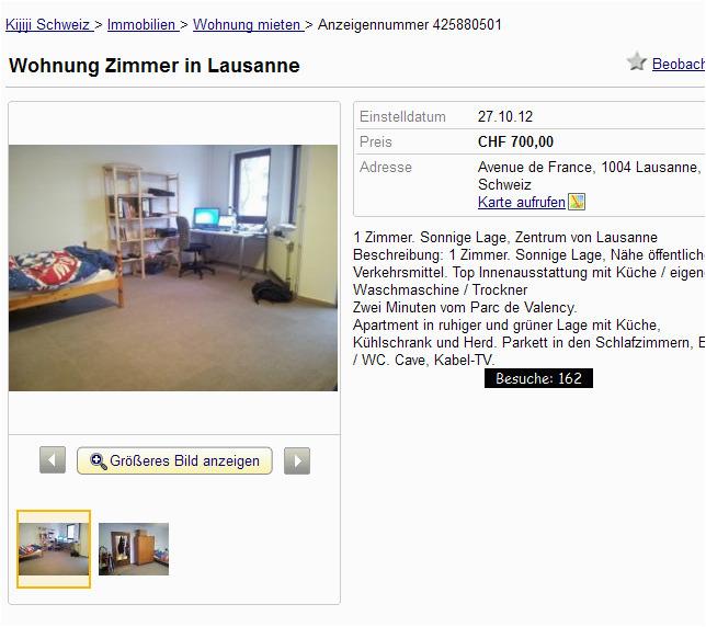 Wohnung Zimmer in Lausanne Schweiz Wohnung mieten Nachmieter Untermieter Kijiji Schweiz