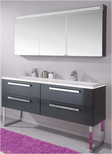 Puris Star Line Badm bel Set 160 6 cm breit Doppelbecken mit Unterschrank sowie Spiegelschrank 600x600
