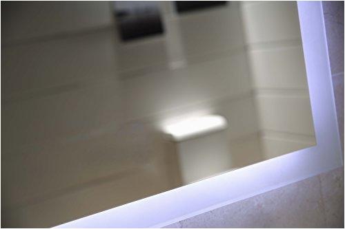 dr fleischmann badspiegel led spiegel gs084n mit beleuchtung durch satinierte lichtflaechen badezimmerspiegel 80 x 60 cm kaltweiss 2