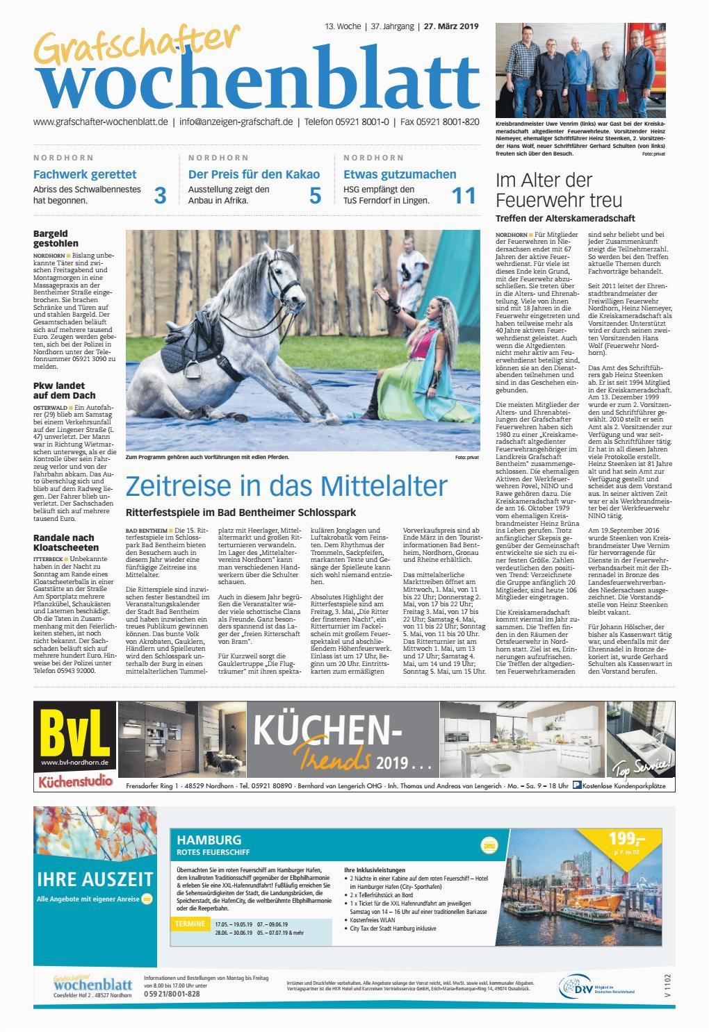 Camping Küchenschrank Obelink Grafschafter Wochenblatt 27 03 2019 by Grafschafter