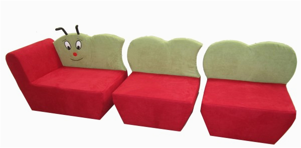 Couch Stoff Hunde Kindersofa Raupe
