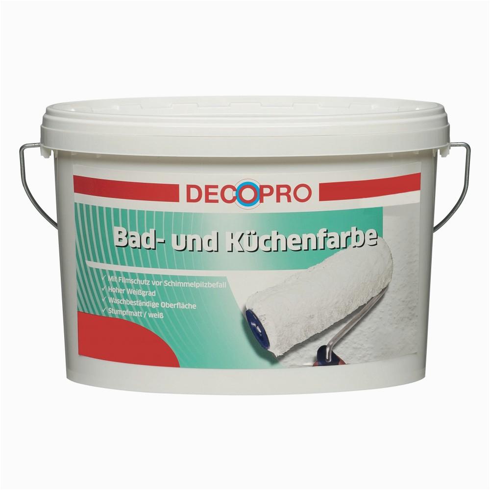 Decopro Bad Und Küchenfarbe Decopro Bad Und Küchenfarbe 2 5 Liter Weiß Stumpfmatt