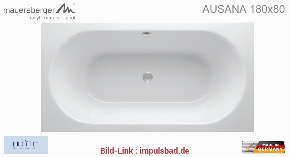 badewanne 180x80 mauersberger badewanne ausana x 80 cm rechteck acryl 33