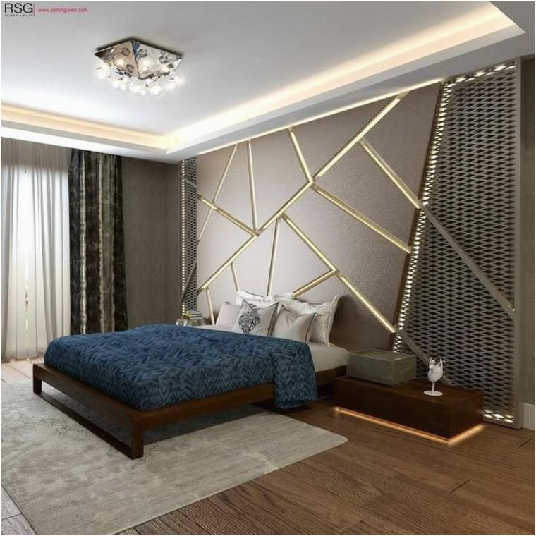 Ideen Indirekte Beleuchtung Schlafzimmer Wände Mit Stein Und Indirekter Beleuchtung Dekoriert