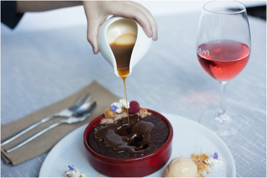 choc dessert with hot
