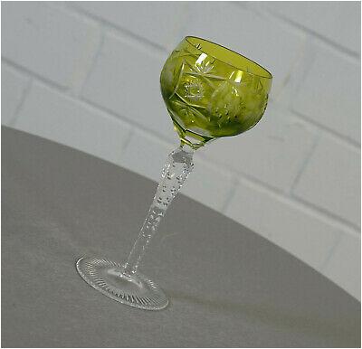 edler Nachtmann Traube Bleikristall Römer Weinglas Diamantschliff Grün