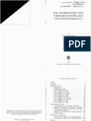 Küche Wortschatz Chemie Duridanov Vardarhydronymie 1975