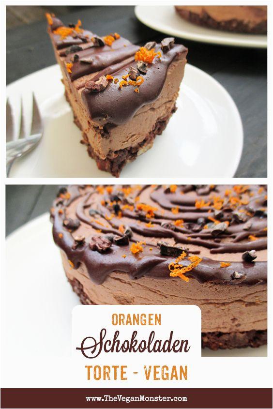 Kuchen Ideen Vegan Nix Backen Haselnuss orangen Schoko torte Vegan Glutenfrei
