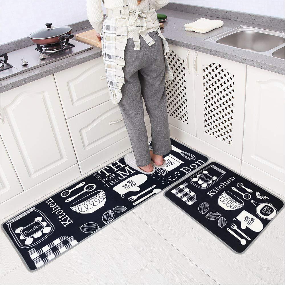 Küchenboden Matte Leebei Küche Teppiche Gummibeschichtung Dekorative Rutschfeste Fußmatte Läufer Bereich Eingang Matten Sets Mahlzeit 15 7 — 23 6 Zoll 15 7 — 47 2