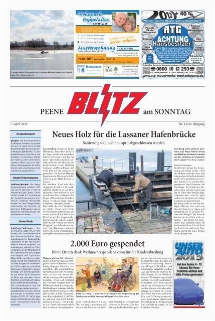 neues holz fur lassaner hafenbrucke 2000 euro gespendet