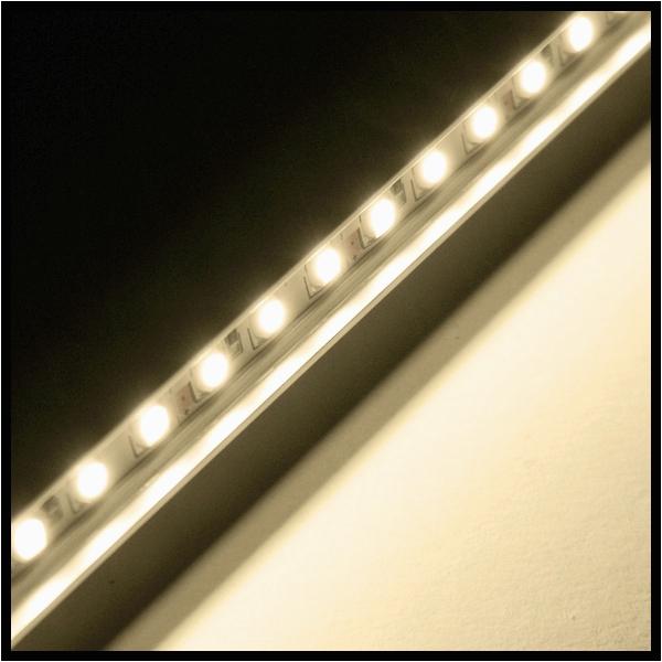 led lampen leiste led lampen leiste led leiste in alu profil warmweis 60 smd 50cm starr ip65 strip