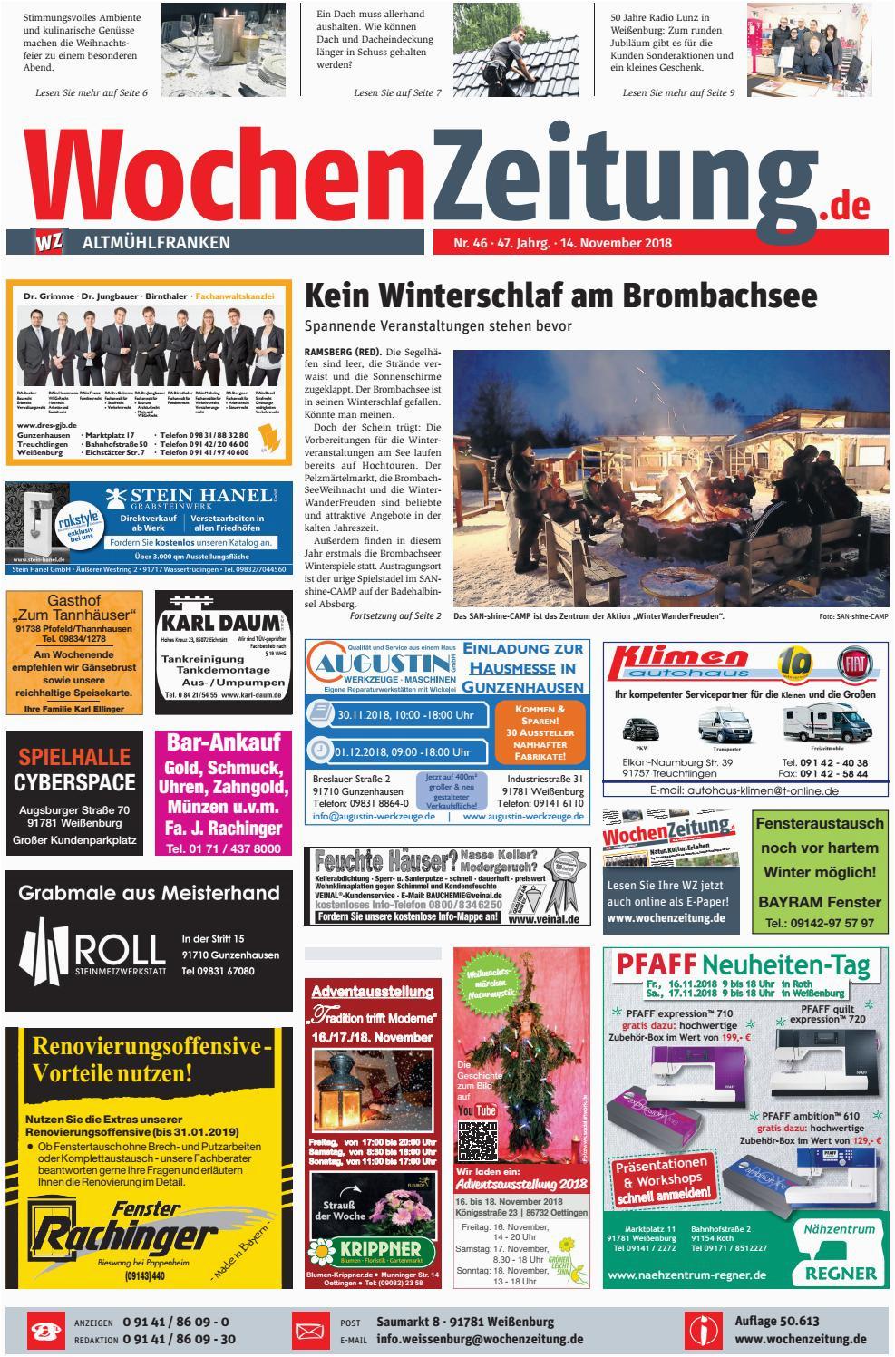 Küchenschrank Quillt Auf Wochenzeitung Altmühlfranken Kw 46 18 by Wochenzeitung