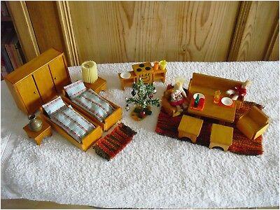 Puppenstube Möbel 60er Jahre 33teilig