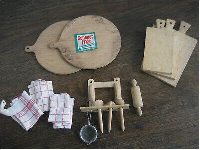 Puppenstube Küche Küchenutensilien Konvolut 30er Jahre
