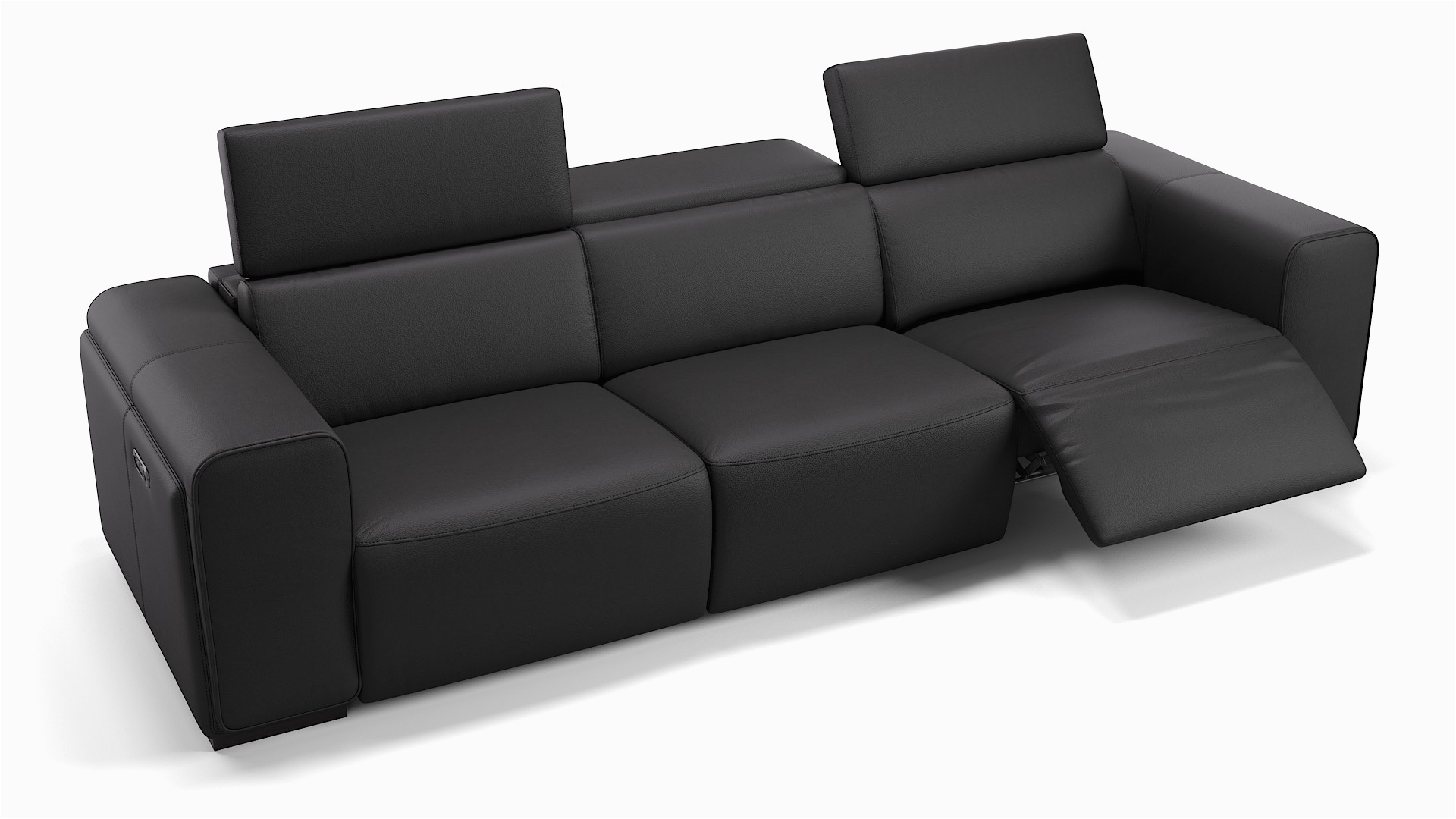 leder sofa xxl imperia schwarz