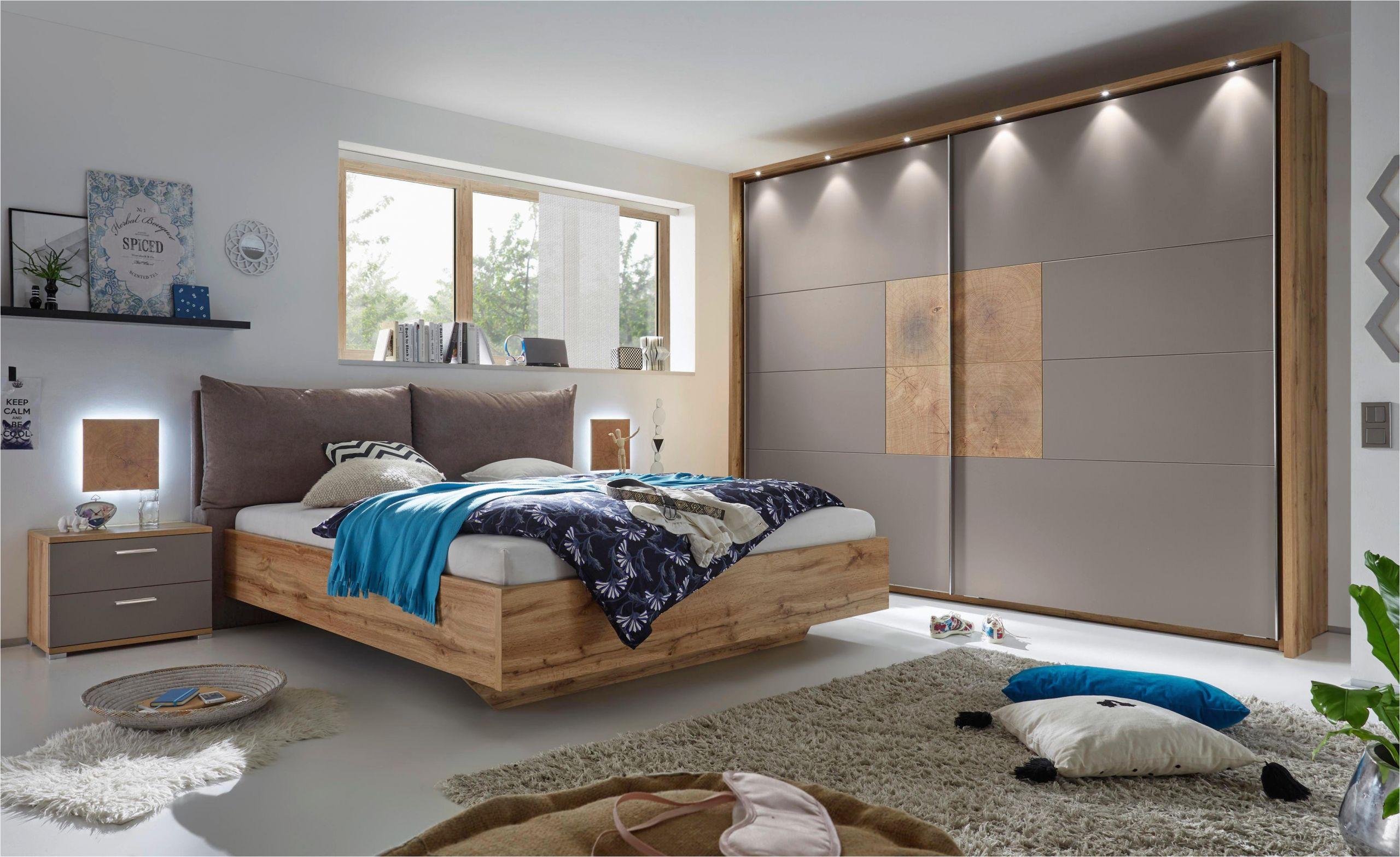 schlafzimmer eichefarben grau design holzwerkstoff textil xora