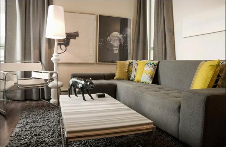 sofas moderne gris best of bild color amarillo 27 ideas de accentos para salones modernos von sofas moderne gris