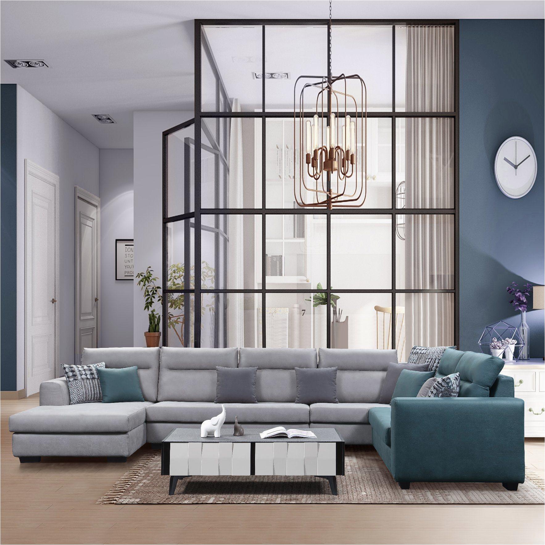 Big Size U Shape Fabric Sofa for Living Room Furniture