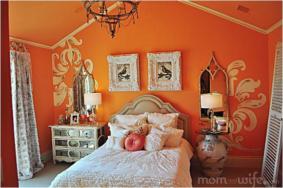 Schlafzimmer Farbe orange Genial Pfirsich Zimmer Dekor Bilder