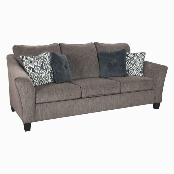 Signature Design by Ashley Nemoli Slate Microfiber Queen Sofa Sleeper c ed81 416c b6b6 ba1e1d94e2de 600