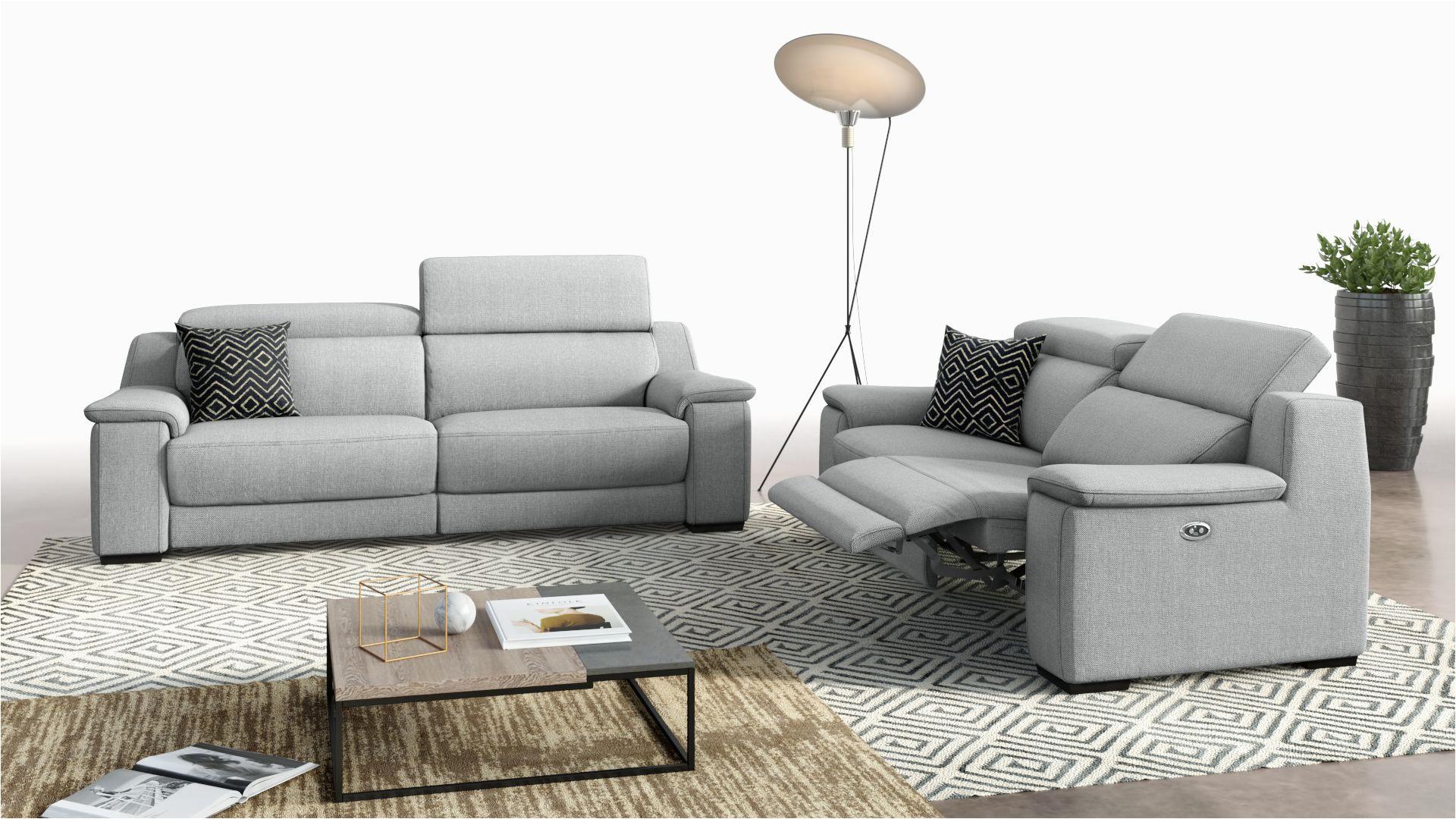 stoff sofa 3 2sitzer valera grau