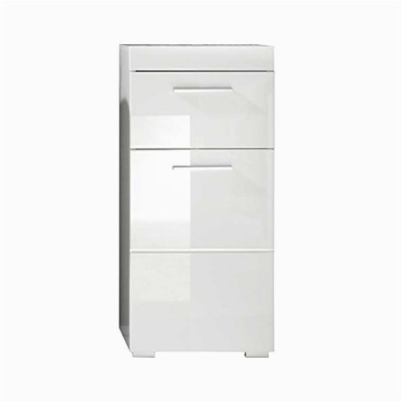 trendteam smart living badezimmer schrank kommode amanda 37 x 79 x 31 cm in weiß hochglanz mit schubkasten B00T818A36 800x800