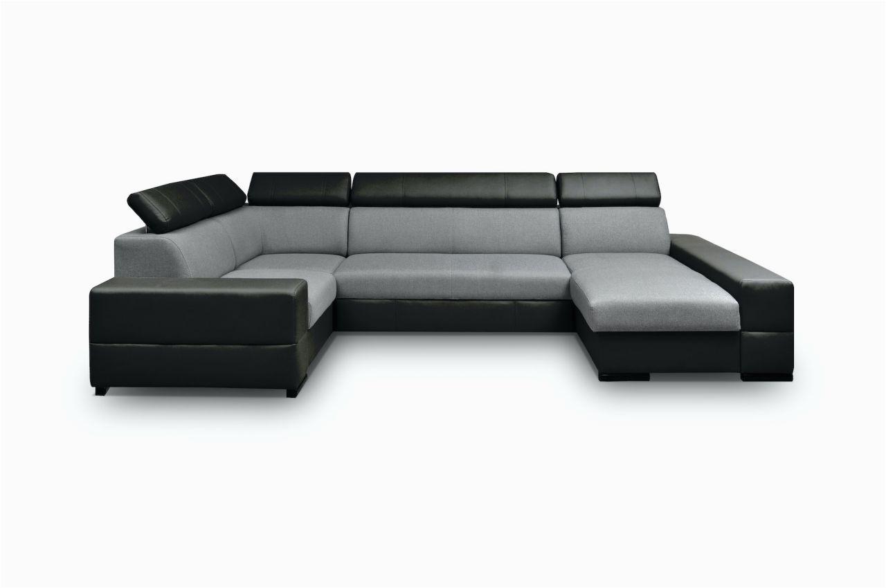 U-form sofa Mit Schlaffunktion Wohnlandschaft U form Alexia Schwarz Grau Ottomane Rechts