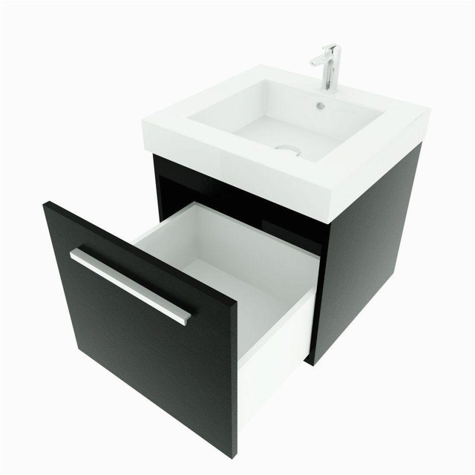 badmobel set city 100 v5 esche schwarz badezimmermobel waschtisch 50cm von waschtisch mit unterschrank 50 cm bild