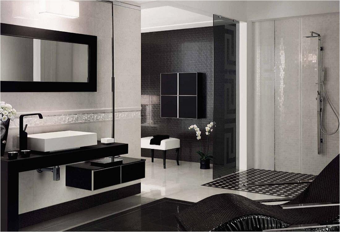 Versace Badezimmer schwarz und weiss