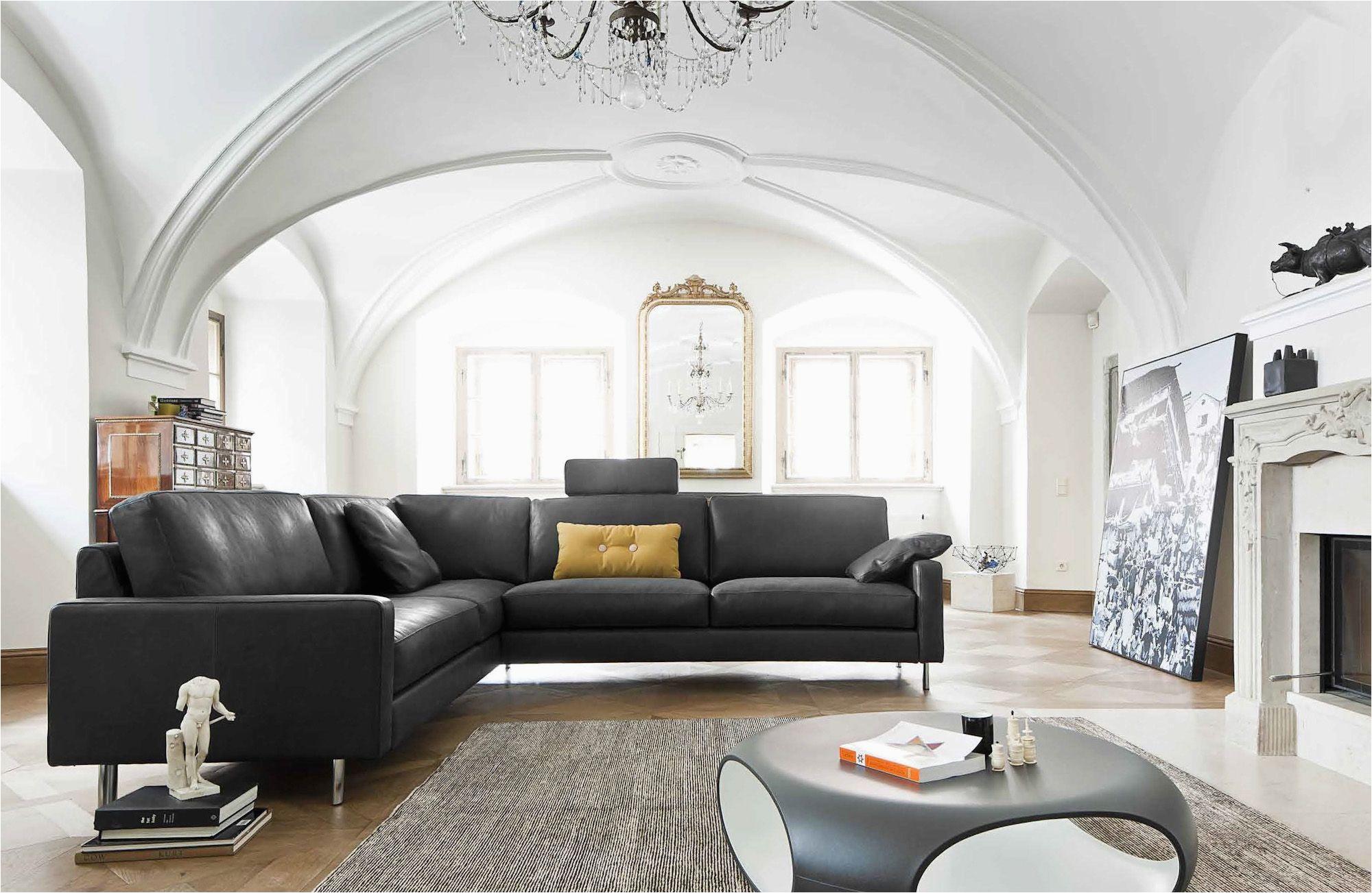 Wohnzimmer Dunkles sofa Modernes sofa Ecksofa Leder