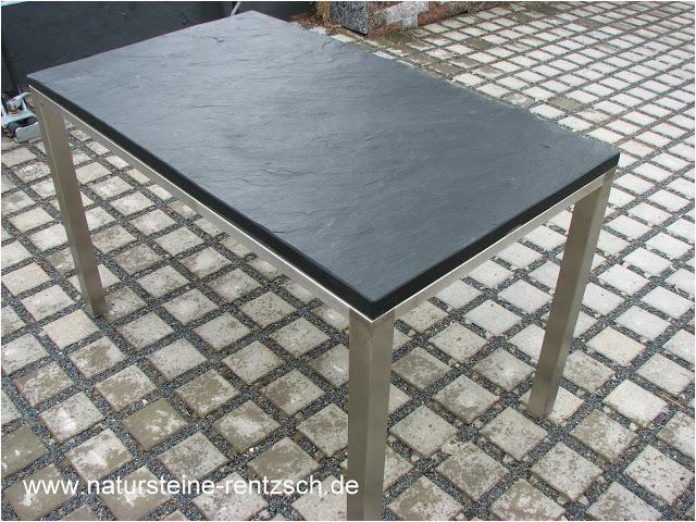 Edelstahl Küchentisch Online Tisch 120 70 Schieferplatte Mit Tischgestell In Edelstahl