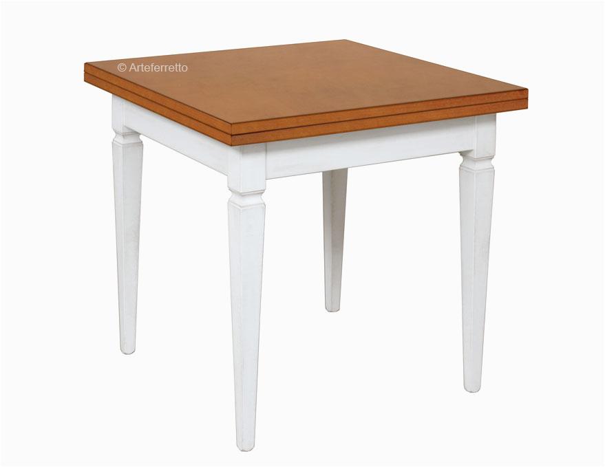 esstisch quadratisch 2 farbe 80x80 cm tisch aus holz ausziehbar als buch 160x80 cm esstisch quadratisch fr esszimmer wohnzimmer oder kche made in italy