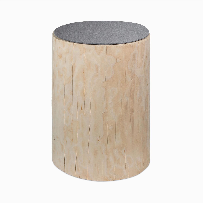 Möbelmanufaktur GreenHaus Holzblock Baumstamm Holzklotz Fichte Beistelltisch