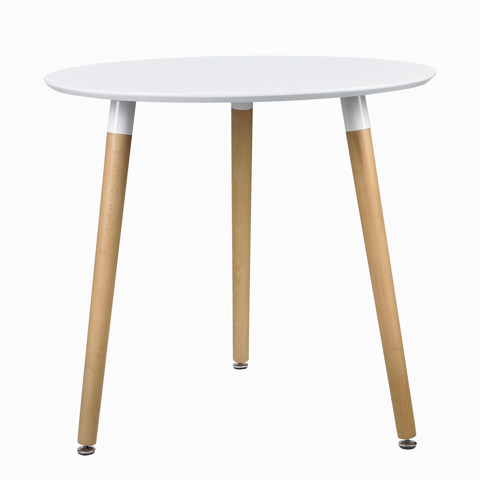 Esstisch Rund In Weiss [ensa] Esstisch Rund Weiß [h 75cmxØ80cm] Holz Tisch