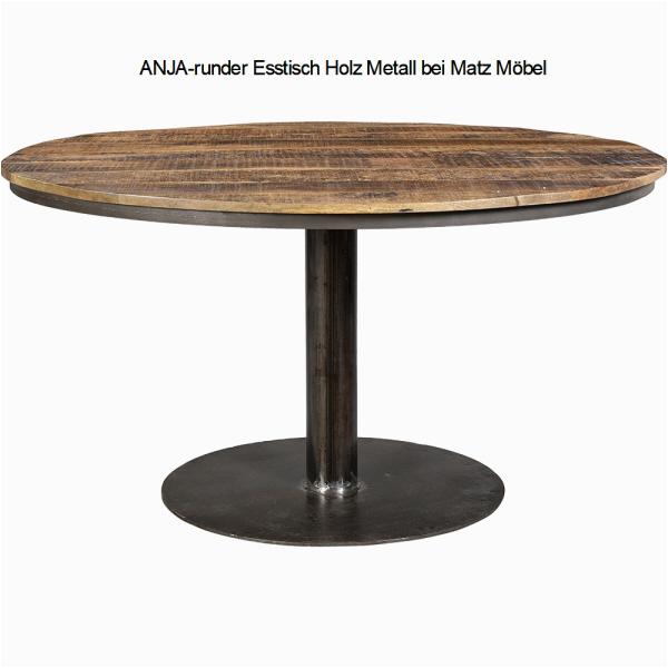 ANJA runder Esstisch Holz Metall bei Matz Moebel M03