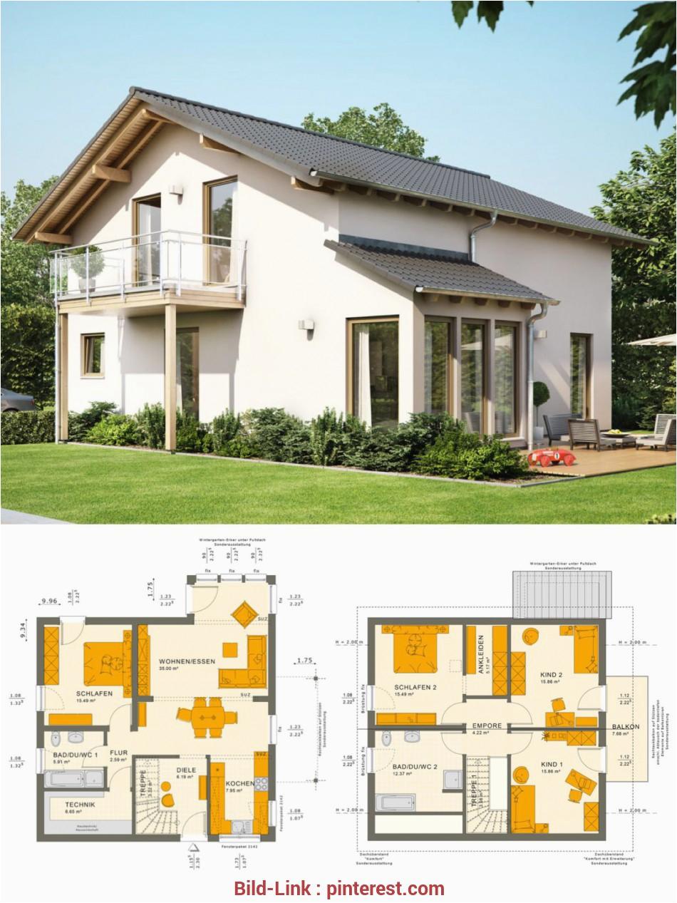 haus bau klassische einfamilienhaus architektur satteldach wintergarten anbau hausbau ideen grundriss fertighaus solution v6 33