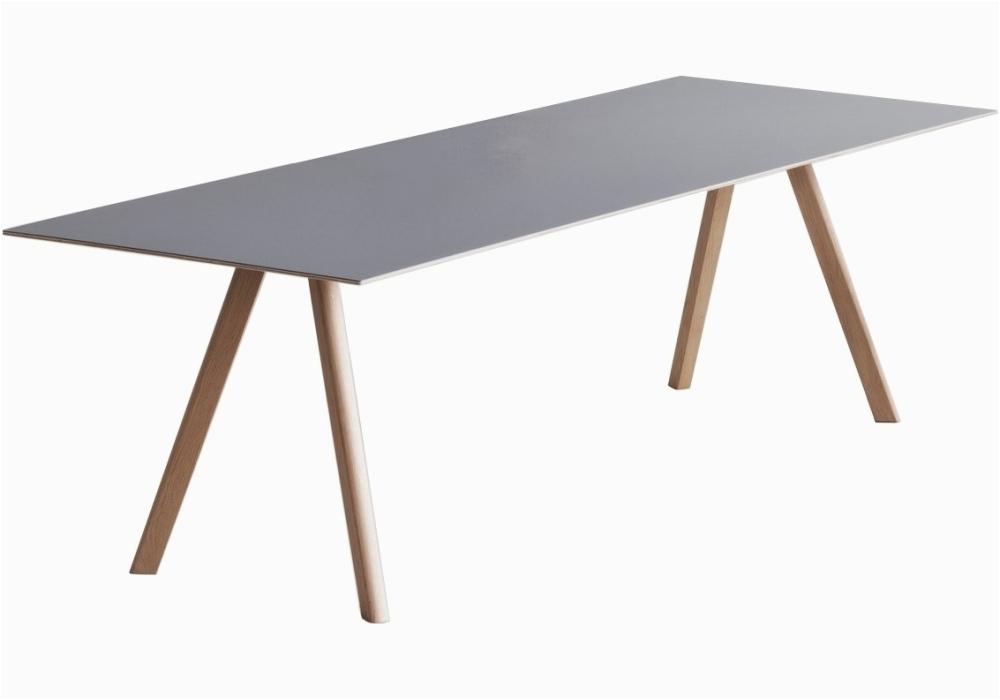 copenhague table cph30 tisch mit tischplatte aus linoleum hay
