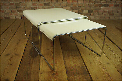 Vintage 2x Satztische Couchtisch Tisch Beistelltisch Nesting Tables