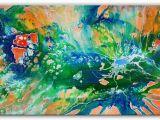 Acrylbilder Für Die Küche Malen Biotop Liquid Painting Grün Rot Blau Malerei Abstrakt