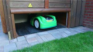 Amazon Rasenmäher Roboter Garage Garage Rasenmäher Roboter Viking Imow 422 tor Runter