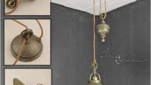 Antike Schlafzimmer Lampen Industrie Pendelleuchte Mit Zugpendel Messing Antik Premium Hängeleuchte Lampe
