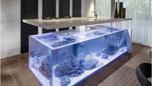 Aquarium Kücheninsel Prekrasan Dizajn Kuhinje S Akvarijem Koji Donosi Ocean