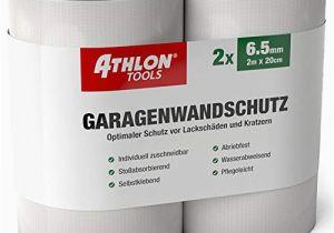 Athlon tools Garagenwandschutz athlon tools Premium Garagen Wandschutz Je 2 M Lang Extra Dicker Auto Türkantenschutz Selbstklebend Wasserabweisend