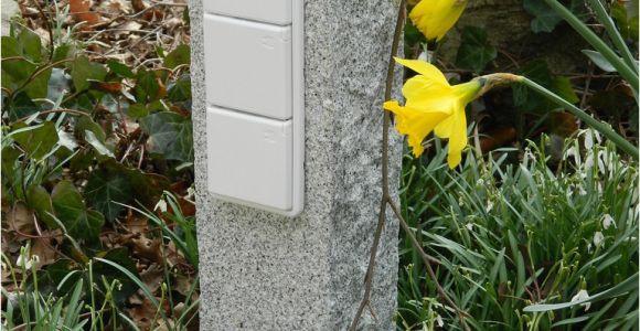 Außensteckdosen Im Garten Außensteckdosen Aus Naturstein Strom Im Garten