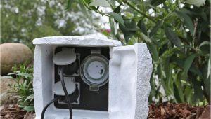 Aussensteckdose Gartensteckdose Mit Zeitschaltuhr Aussensteckdose Stein Stromverteiler Garten